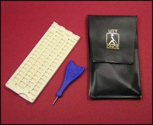 Tavoletta braille 4X15 in plastica portatile