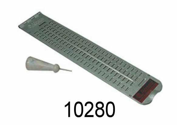 Tavoletta braille 4X28 in alluminio