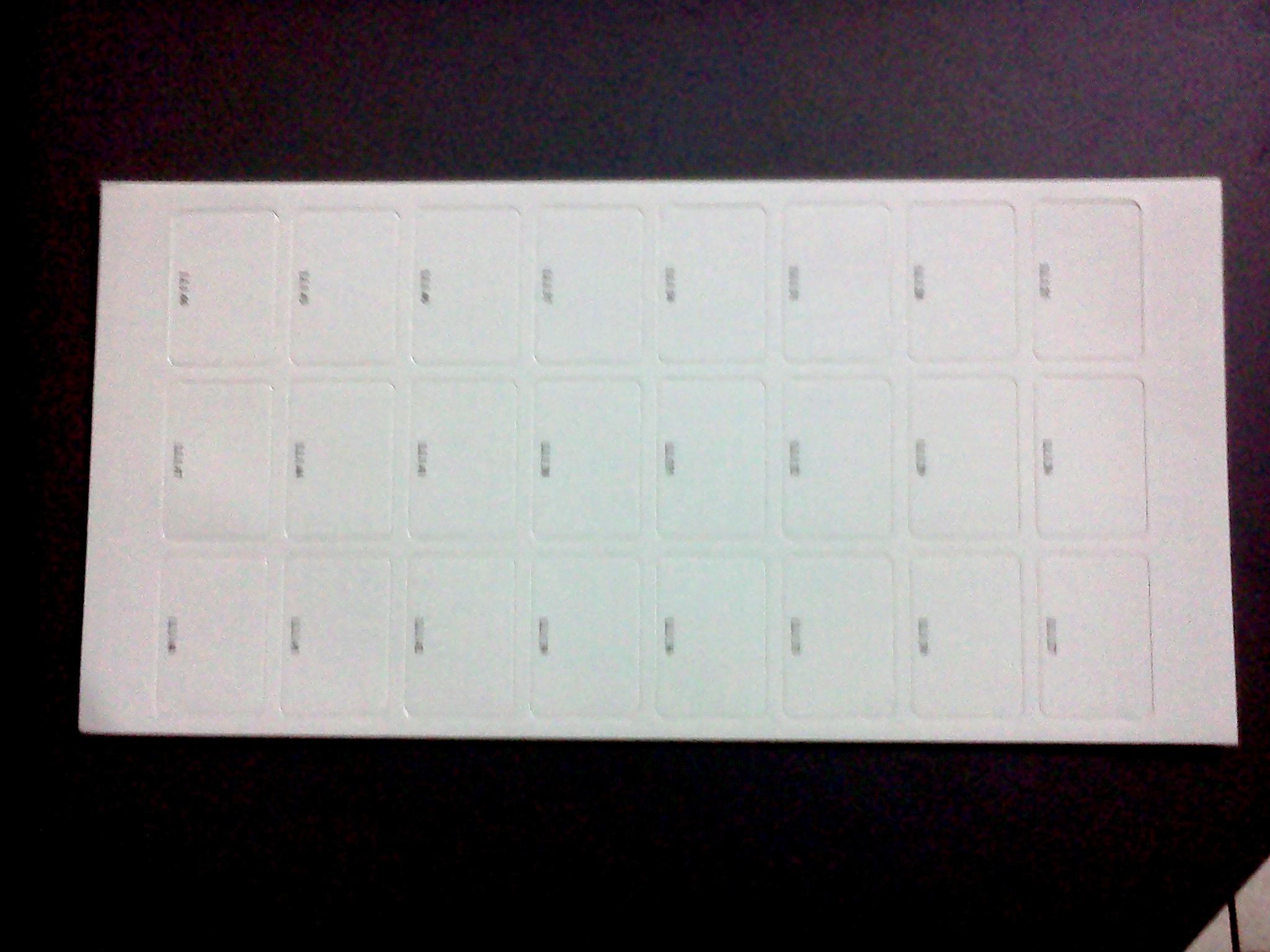 Pacco LL3 etichette adesive lavabili per PenFriend 48 PZ