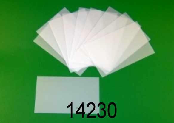 Etichette adesive trasparenti 12X12CM conf. 10 pz