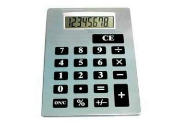 Calcolatrice a caratteri ingranditi