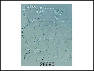 Fogli in alluminio per piano in gomma conf. 24 PZ