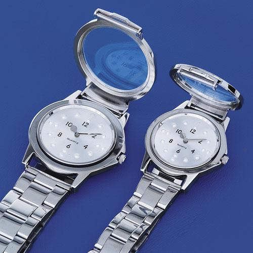 Orologio tattile base da uomo cromato cinturino metallo