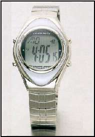 Orologio parlante in metallo con cronometro