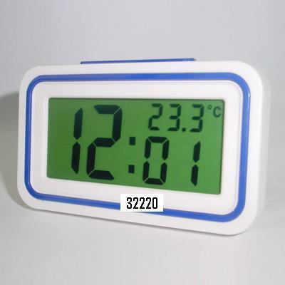 Sveglia parlante rettangolare con termometro
