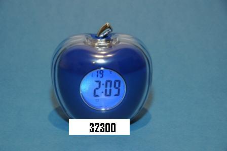 Sveglia parlante con termometro mela blu