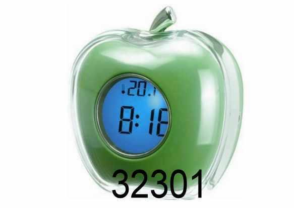 Sveglia parlante con termometro mela verde
