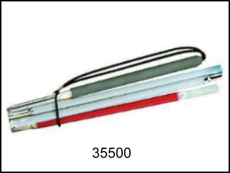 Bastone bianco pieghevole in alluminio 0,9M