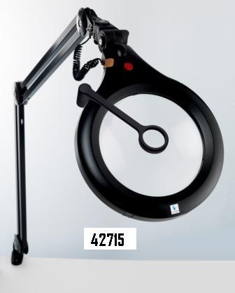 Lampada con lente ingrandente 1,75X e protezione elettrostatica