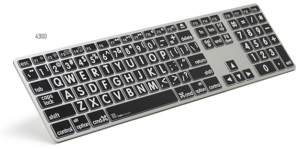 Tastiera a caratteri ingranditi nero/bianco Apple