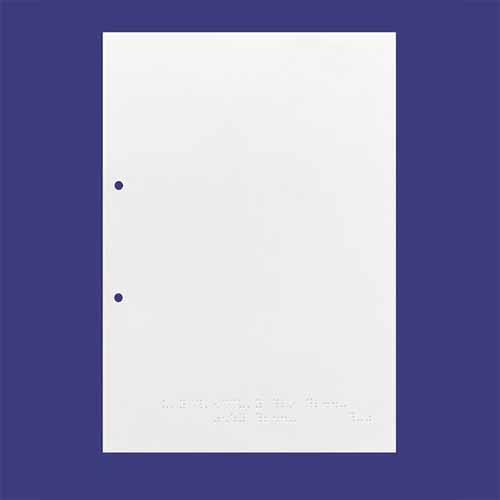 Carta braille fogli singoli 135G 50 fogli A4 preforati
